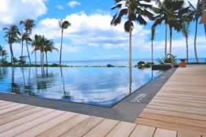 Infinity Pool with Ipe Decking and Buzon Pedestals