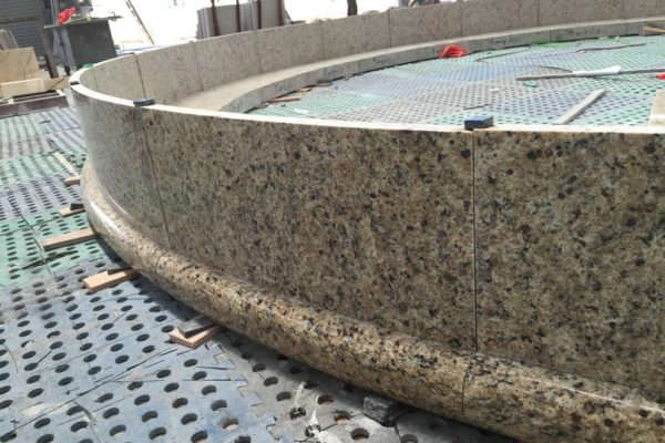 Full-Scale mockups are typical for HDG Building Materials stone projects