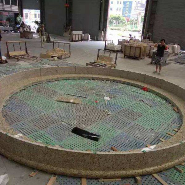 Polished Granite Stone Fountain Course of Fabrication Photos - HDG Building Materials White Glove Service
