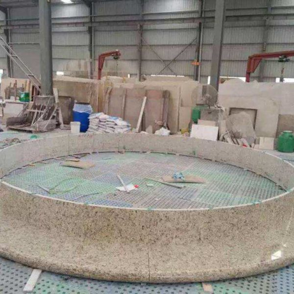 Radius-Cut and Polished Granite for Stone Fountain