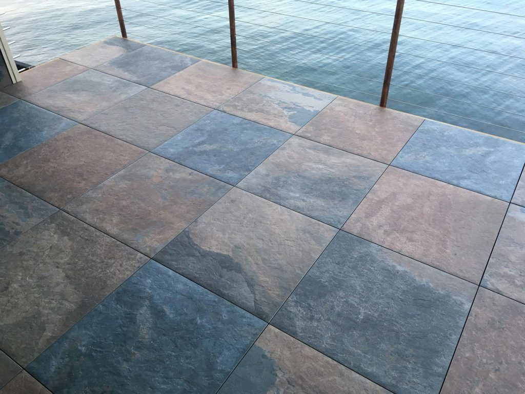 HDG Jamba Slate Porcelain Paver - Rooftop Deck - HDG Building Materials