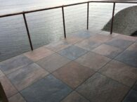 Porcelain Pavers Over Buzon Pedestals on Rooftop Deck Applciation