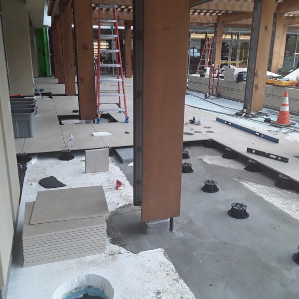 Buzon Pedestal layout for Structural Porcelain Decking Tiles - HDG Building Materials