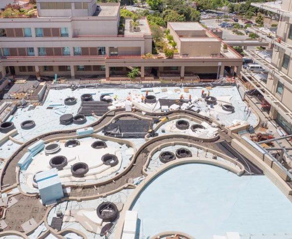 Lucile Packard Childrens Hospital Outdoor Garden Under Construction- HDG Building Materials