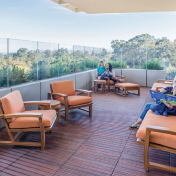 Outdoor Patient Terrace at Lucile Packard Children's Hospital - HDG Building Materials