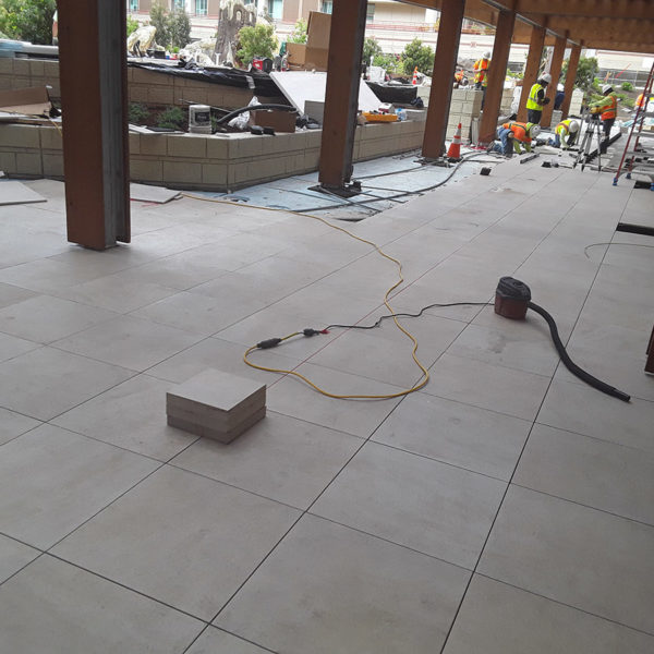 Porcelain Paving Tiles Over Buzon Pedestals - HDG Building Materials