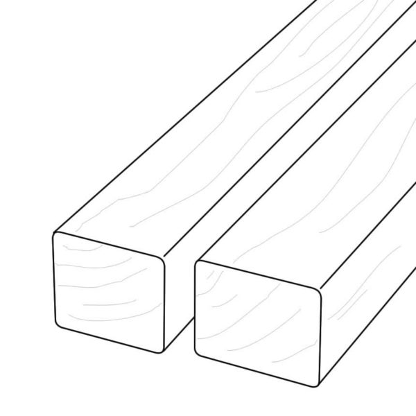 Profiled Edges on Ripped 2x4 Thermory to Make Custom 2x2 D4 Thermo-Ash Profile - Dealer HDG Building Materials