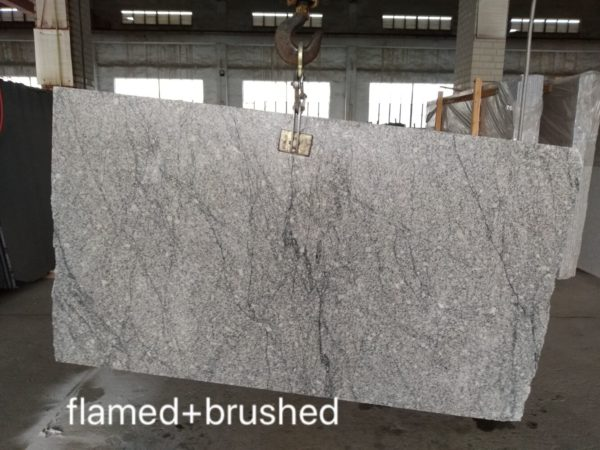 HDG Delta Grey Granite with Black Veins - Flamed and Brushed Finish - HDG Building Materials