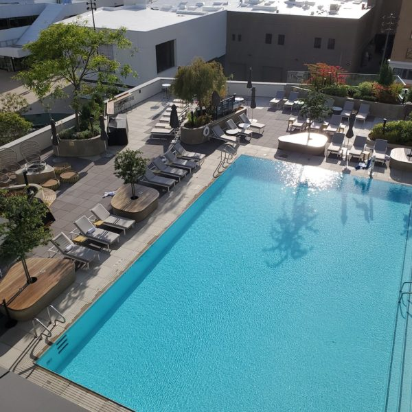 Hotel Terrace and Pool Design Using Buzon Pedestals - HDG Building Materials