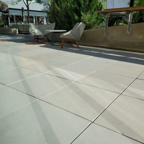 Hotel Terrace with Concrete Pavers and Buzon Pedestals - HDG Building Materials