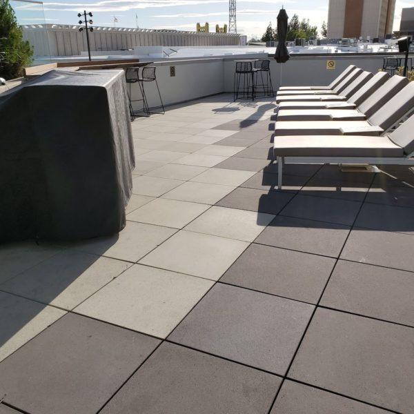 Multiple Colors in Concrete Paver Decking Design - HDG Building Materials