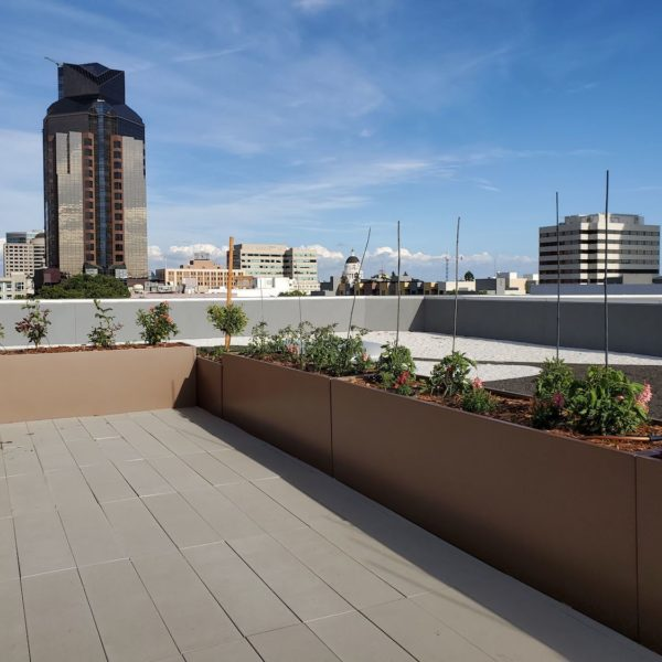 Rooftop Terrace with Buzon Pedestals - HDG Building Materials