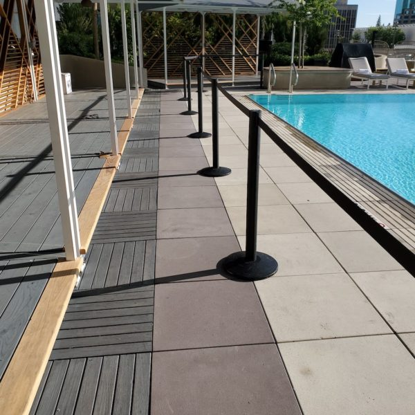 Wood Decking plus Wood Pavers plus Concrete Pavers - HDG Building Materials