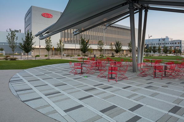 HDG Tech Fine Concrete Paver Outdoor Seating Application