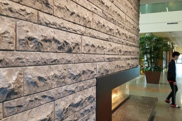 Two Limestones Meet at the Fireplace - HDG Building Materials