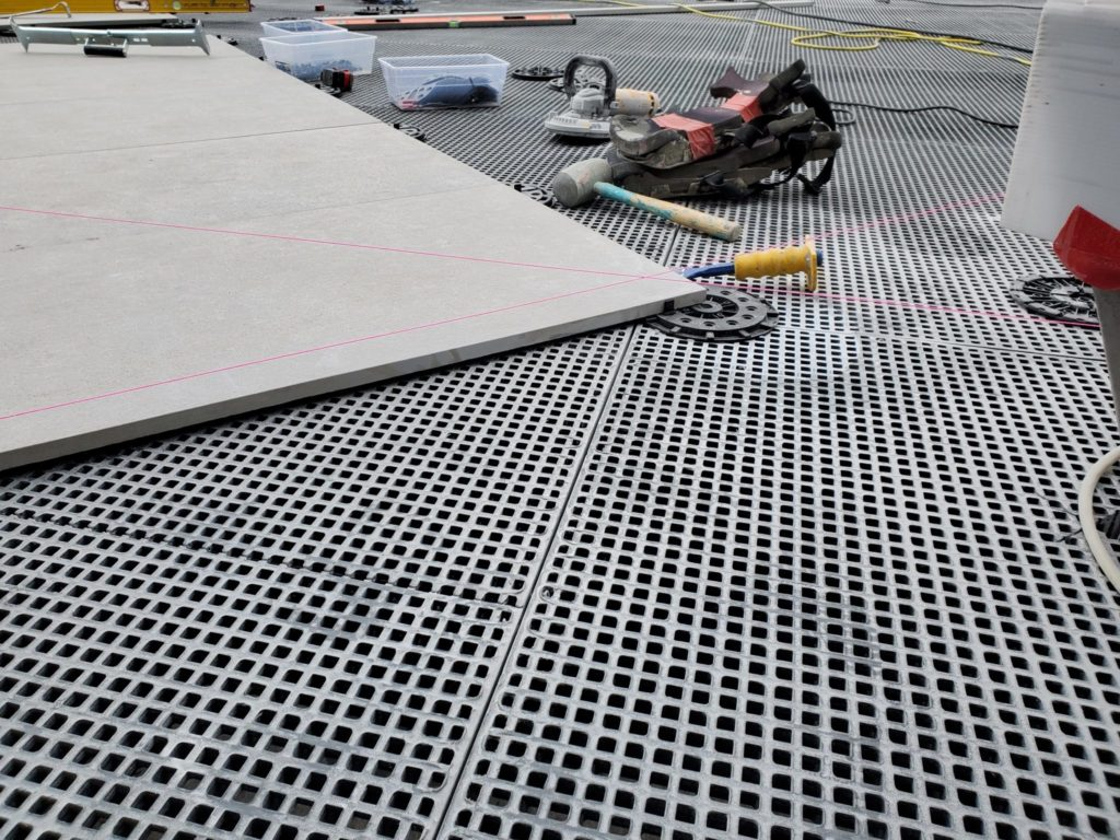 Sloped Surface Design with Buzon Pedestals and HDG Grating Panels