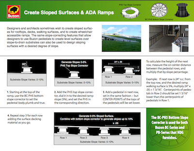 Buzon Pedestal Project Resource - Create Sloped Surfaces and ADA Ramps - HDG Building Materials