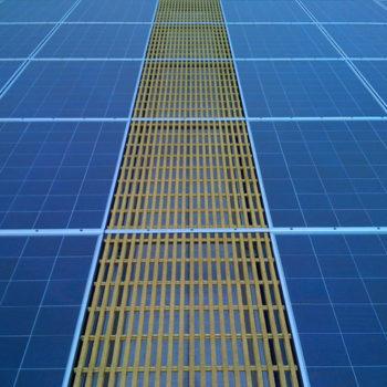 HDG Grating Panels - Slip-resistant Rooftop Solar Walkway
