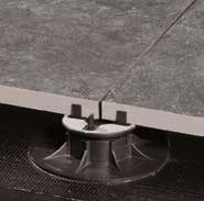 HDG Moka Greige 3CM Porcelain Paver Placed on Buzon Pedestals with Space Tabs Shown - HDG Building Materials