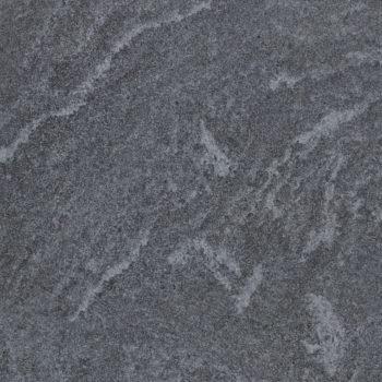 HDG Origami Grey 3CM Porcelain Paver Detail with Dark Grey Fleuri-Cut Limestone Finish - HDG Building Materials