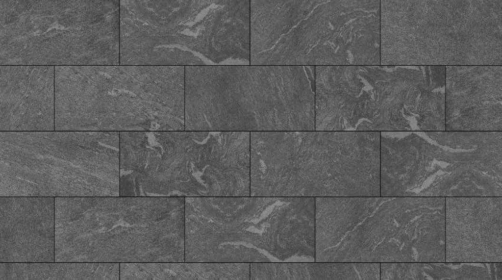 HDG Origami Grey 3CM Porcelain Paver with Dark Grey Fleuri-Cut Limestone Finish - Pattern - HDG Building Materials