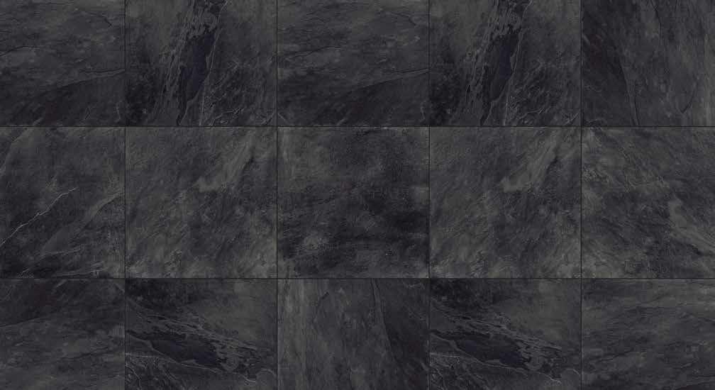 HDG Slate Black Porcelain Paver 60x60x3 CM Pattern - HDG Building Materials