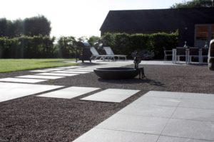 Outdoor Patio and Walk Using 3CM HDG Orgami Grey Porcelain Pavers - HDG Building Materials