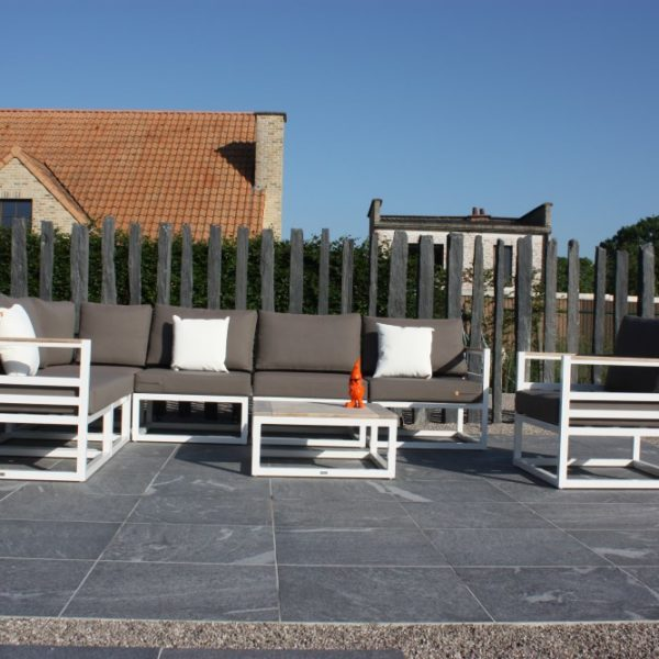 Private Residence Outdoor Patio Uses HDG Orgami Grey 60x60 3CM Porcelain Paver - HDG Building Materials