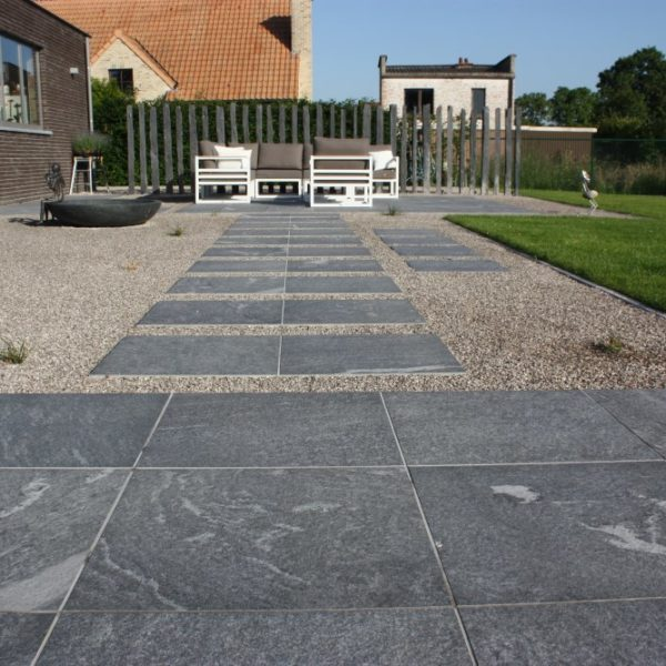 Private Residence Using HDG Orgami Grey 60x60 3CM Porcelain Paver - HDG Building Materials