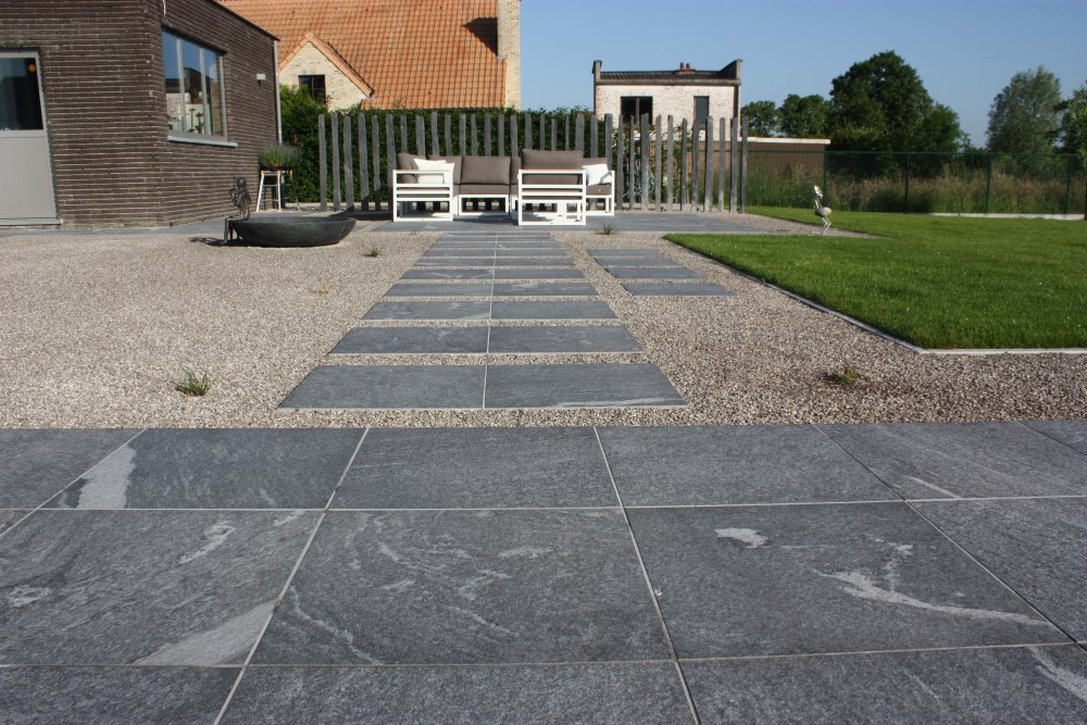 Private Residence Using HDG Colo-Grigi 60x60 3CM Porcelain Paver - HDG Building Materials