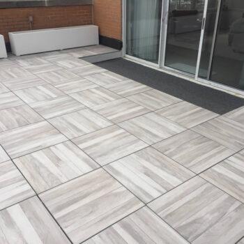 Acacia 60x60 cm Porcelain Paver in Private Terrace Application