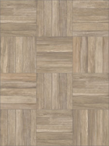 Aged Teak Porcelain Pavers with Grooved Wood Slats Pattern - HDG Building Materials