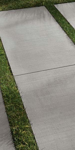 CC-Moda Grey 60x60 2cm Porcelain Paver Grass Install - HDG Building Materials