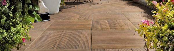 Espresso Porcelain Paver in Private Garden Application - HDG Building Materials