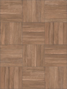 Espresso Porcelain Paver with Grooved Wood Slats - Pattern - HDG Building Materials