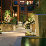 HDG Concrete Pavers with Natural Stone and Water Feature