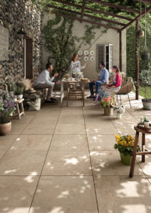 Jamba Sand Porcelain Pavers with Slate - Coarse Finish - Courtyard Patio - HDG Building Materials