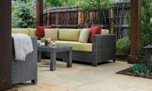 Jamba Sand Porcelain Pavers with Slate - Coarse Finish - Patio - HDG Building Materials