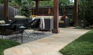 Jamba Sand Porcelain Pavers with Slate - Coarse Finish - Walkway - HDG Building Materials