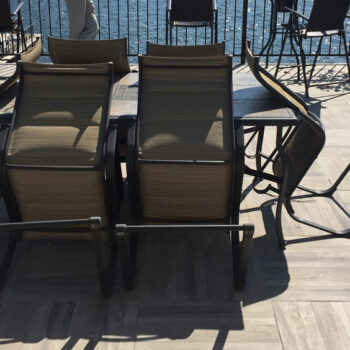 Kauri Grey Wood Grain Porcelain Paver for Lakeside Decking Application