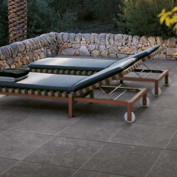 Kaia Black 60x60 cm Porcelain Paver Outdoor Terrace - HDG Building Materials