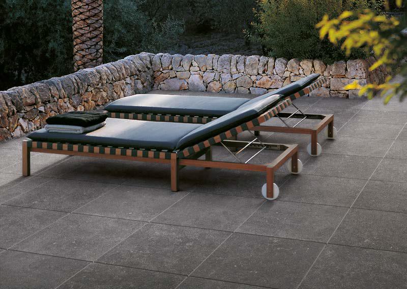Kaia Black 60x60 cm Porcelain Paver Outdoor Terrace - HDG Building Materials