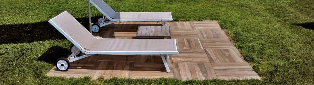 Orinda 60x60 cm Wood Finish Porcelain Pavers in Outdoor Resort Application - HDG Building Materials