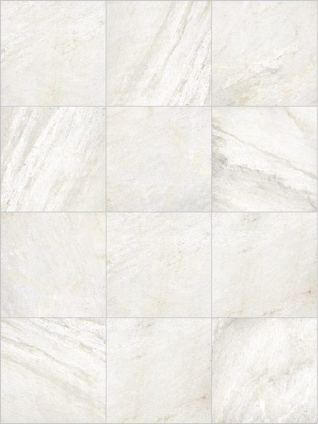 Quarry White 60x60 cm Porcelain Paver Pattern - HDG Building Materials