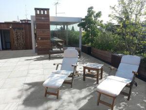 Quarry White 60x60 cm Porcelain Paver in Rooftop Deck - HDG Building Materials