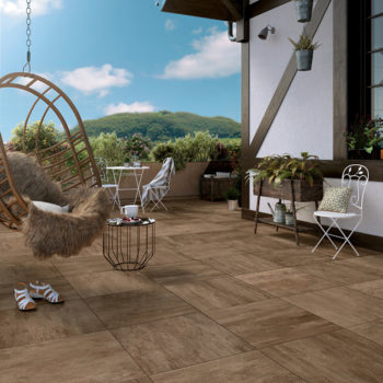 SUP Dawn Porcelain Paver with Gold Ash Wood Finish Outdoor Terrace - HDG Building Materials