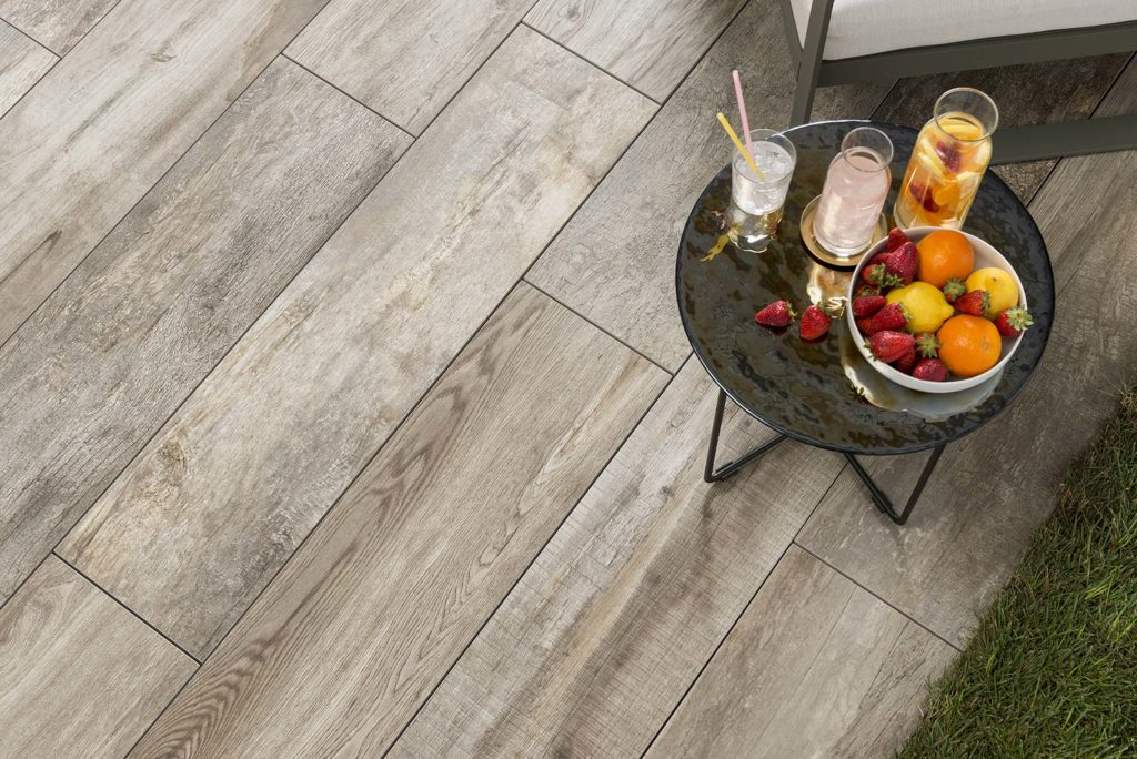 SUP Dusk Porcelain Paver with Grey Ash Wood Finish Deck - HDG Building Materials