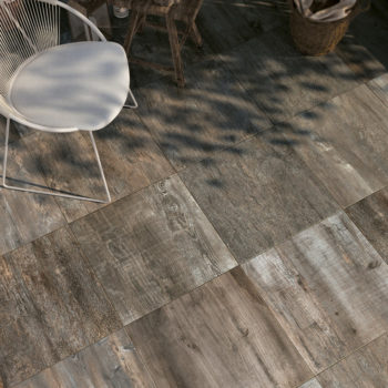 SUP Dusk Porcelain Paver with Grey Ash Wood Finish Outdoor Deck - HDG Building Materials