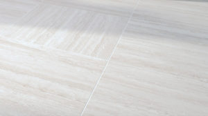 Trevino Pearl 60x60 cm Porcelain Paver with White Travertine - Directional Finish - Additional Image - HDG Building Materials