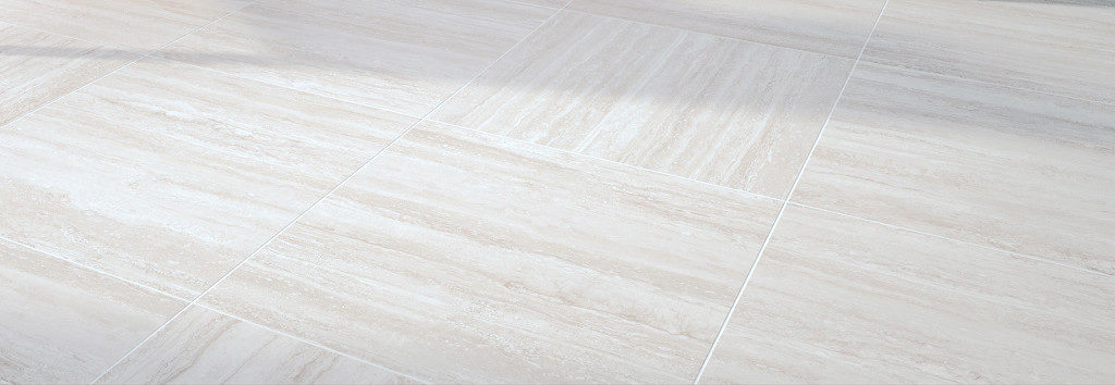 Trevino Pearl 60x60 cm Porcelain Paver with White Travertine - Directional Finish - Feature - HDG Building Materials